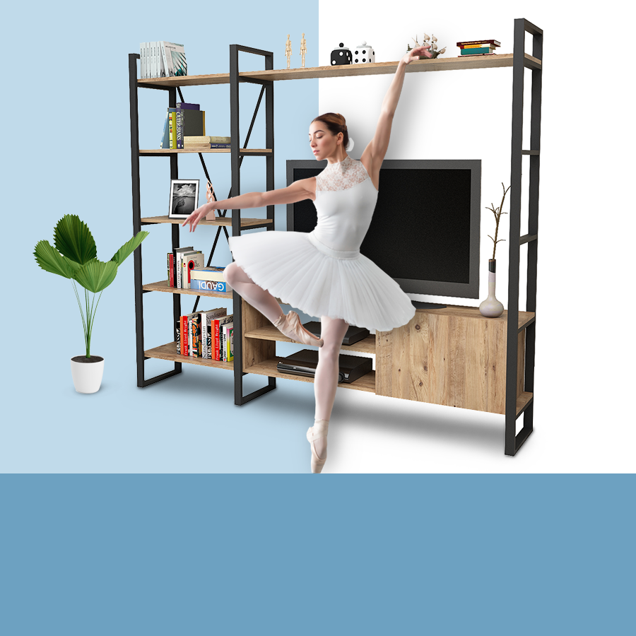 Yuru design mobilya,modüler mobilya,magic gray,tv ünitesi,yurudesign