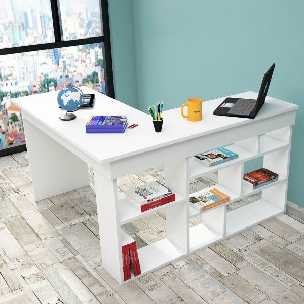 Beyaz renk çalışma masası
