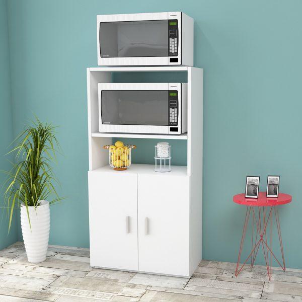 Beyaz renk çok amaçlı mutfak dolabı
