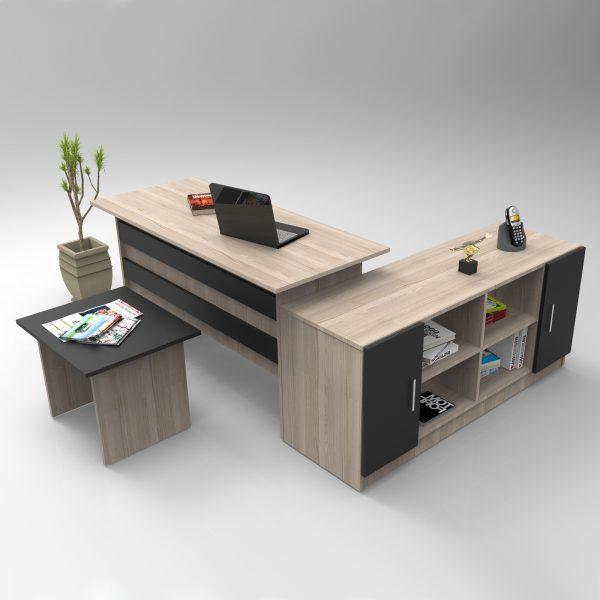 Kahverengi ofis masa takımı