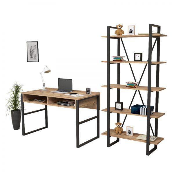 Yurudesign,demir çalışma masası,bilgisayar masası,demir raf